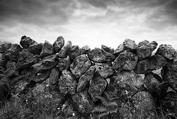 Stenen muur Ierland van Fred Lenting