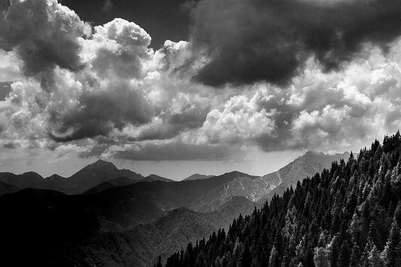 Blick vom Hochobir in Kärnten