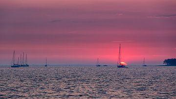 Zonsondergang Grevelingen Meer von Bram van Broekhoven