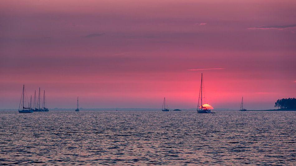 Zonsondergang Grevelingen Meer