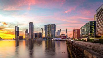 Kop van zuid met zonsondergang van Prachtig Rotterdam