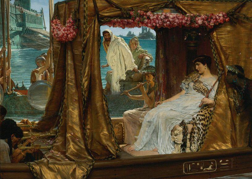 Lawrence Alma Tadema. Anthony and Cleopatra, 1884 van 1000 Schilderijen