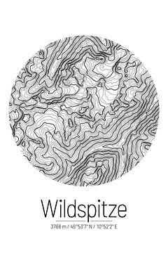 Wildspitze | Kaarttopografie (Minimaal) van ViaMapia