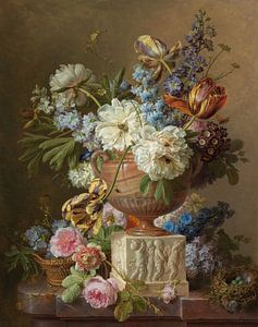 Bloemstilleven in een albasten vaas, Gerard van Spaendonck , 1783 van