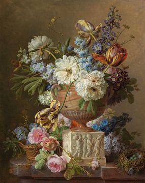 Blumenstillleben in einer Alabastervase, Gerard van Spaendonck, 1783 von Roger VDB