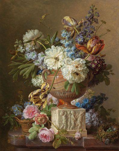 Bloemstilleven in een albasten vaas, Gerard van Spaendonck , 1783 van Roger VDB