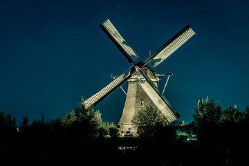 Mühle in der Nacht von Henri van Avezaath