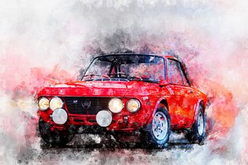 Lancia Fulvia HF Rood van Theodor Decker