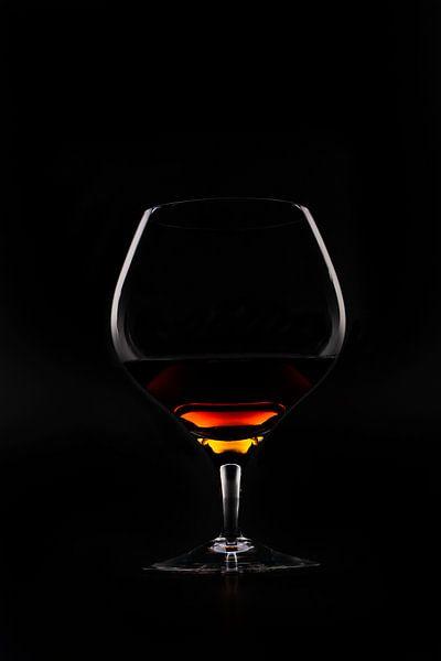 Chique foto van een cognacglas van Henny Brouwers