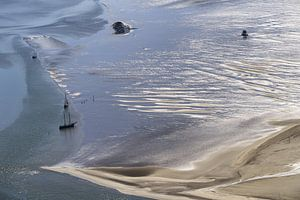 Segelnboote auf dem Watt