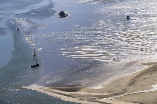 Voile sur la mer des Wadden sur