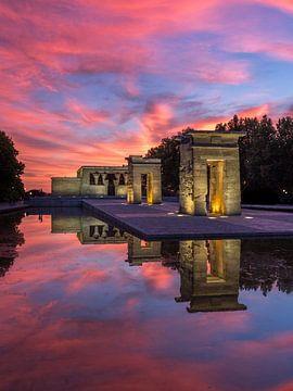 Tempel van Debod - Madrid - 2 van Nuance Beeld
