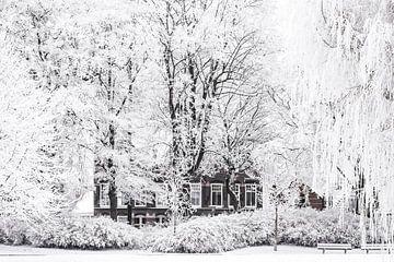 Winterlandschap in het stadspark van Kampen van Sjoerd van der Wal