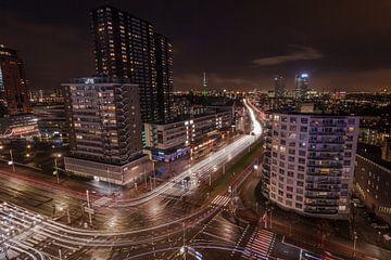 Lighttrails in Rotterdam von René Rollema