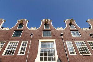 Rij klokgevels in de Weteringstraat in Amsterdam