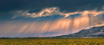 Zonsopkomst in Grand Teton N.P, Wyoming