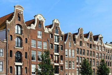 Gevels aan de Prinsengracht in Amsterdam van