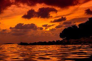 de zee in stilte