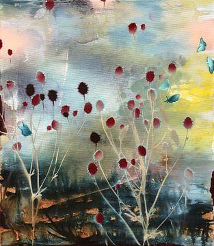 Blauwe Vlinders van Simone Zacharias