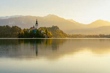 Bled's golden sunrise von Simon Bregman