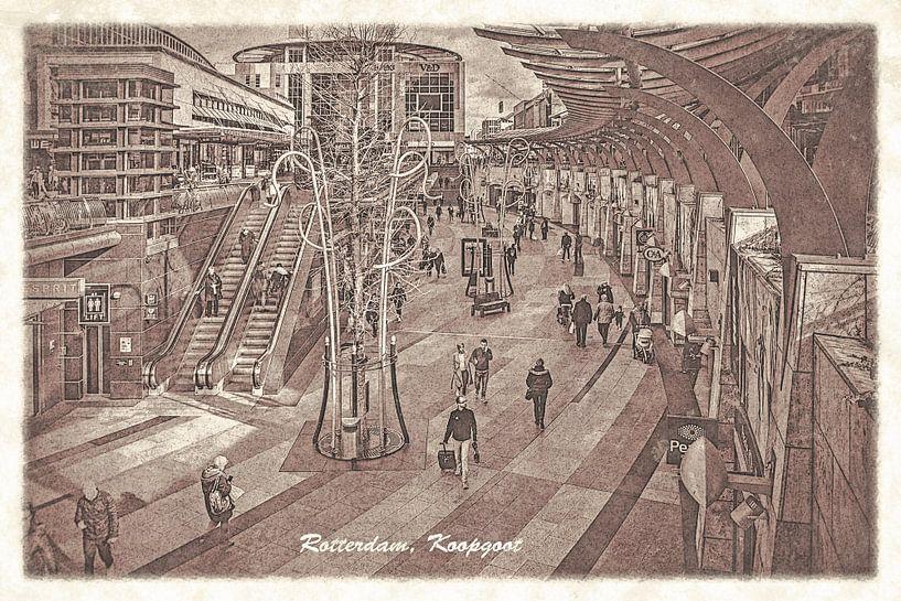 Oude ansichten: Rotterdam Koopgoot van Frans Blok