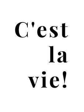 C'est la vie! von MarcoZoutmanDesign