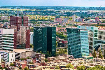 Luchtfoto van het Beatrixkwartier te Den Haag. van Scarlett van Kakerken