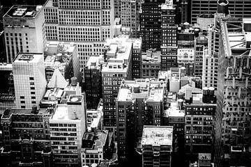 Skyscraper, New York City (zwart-wit versie) von H Verdurmen
