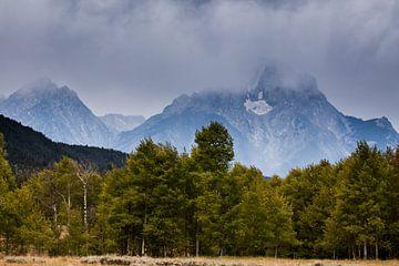 Bewolkte Grand Teton National park von Stefan Verheij