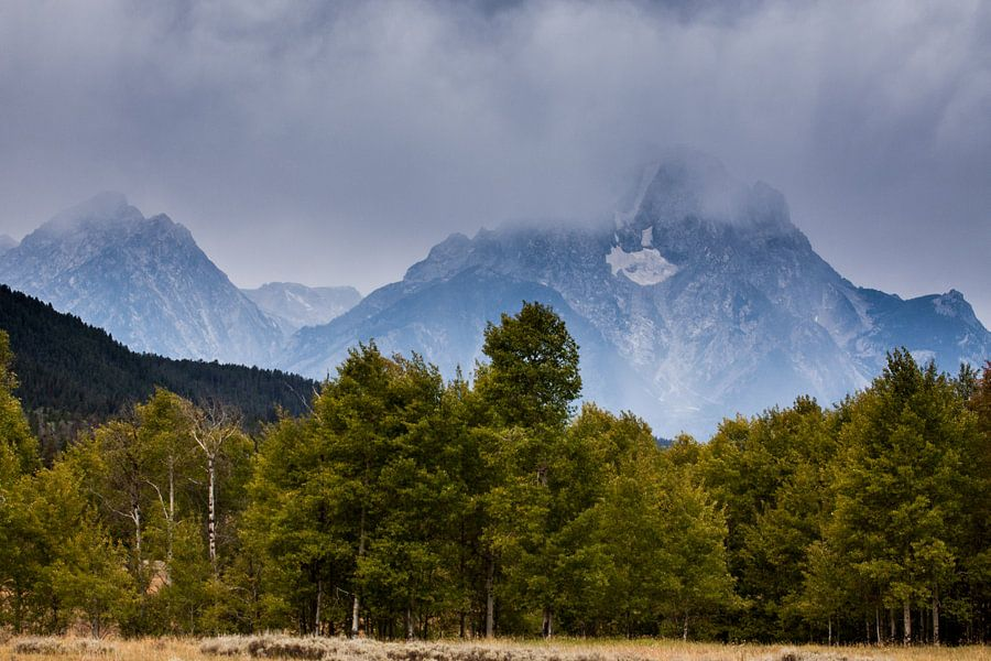 Bewolkte Grand Teton National park