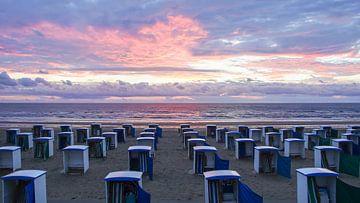zonsondergang in Katwijk von Dirk van Egmond