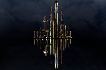 Skyline (duister) van Stefanie van Dijk