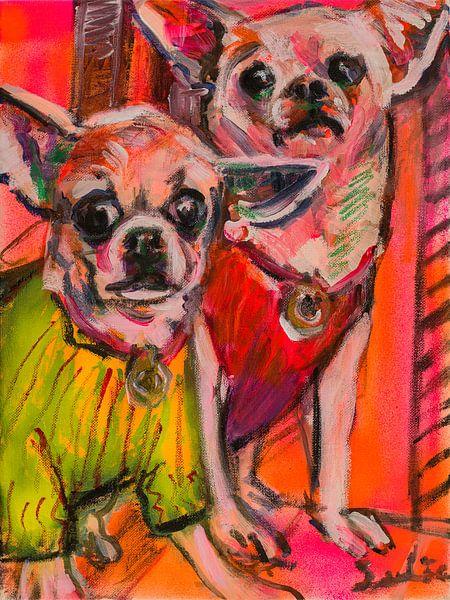 Chihuahuas sur Liesbeth Serlie