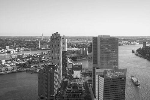 Het uitzicht op de Wilhelminapier in Rotterdam