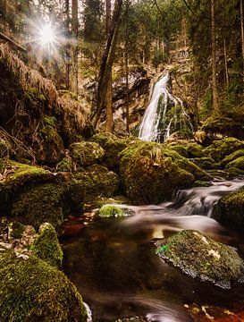 Wasserfall in Golling van sebastian Dietrich