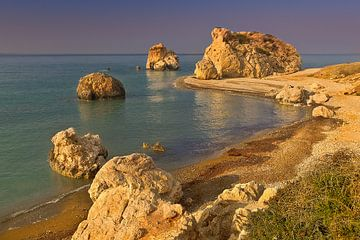 Sonnenuntergang am Felsen der Aphrodite, Zypern