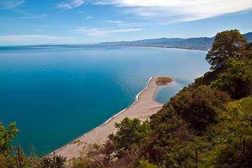 Weisse Lagune von Tindari auf der Insel Sizilien von Silva Wischeropp