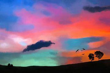 Farbenfrohe Landschaft von Tanja Udelhofen