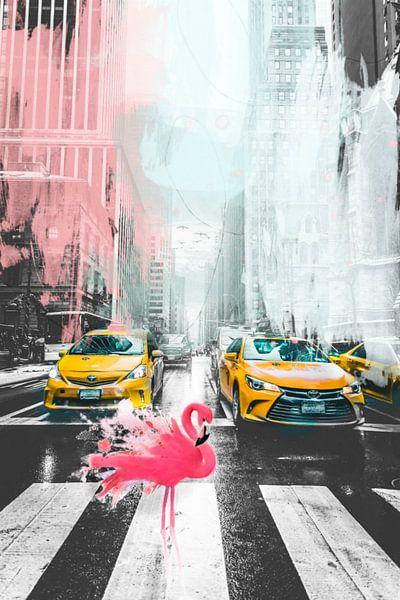 Crazy Street 02 - Flamingos - New York City von Felix von Altersheim