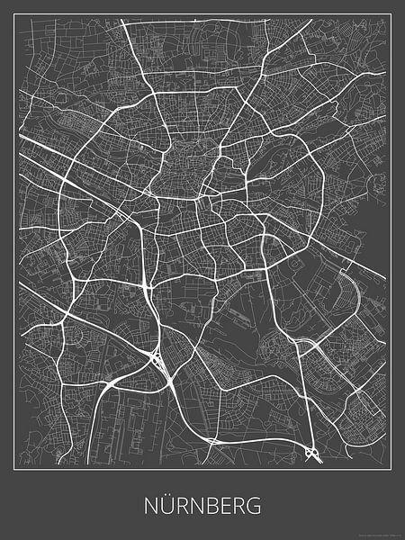Nürnberg, grau von Geodat