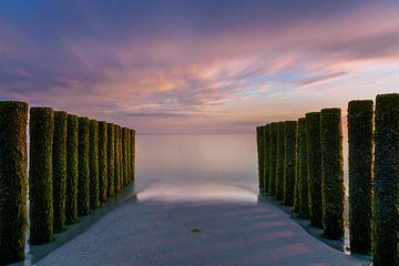Sonnenuntergang in Zeeland von Ruwan Silva