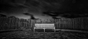 Eenzame bank van Pieter van Roijen