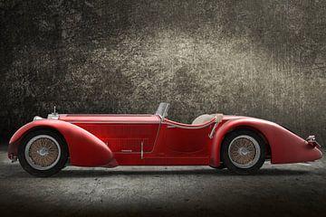 Retro-Auto rot von H.m. Soetens