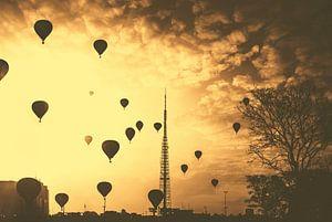 Balloons over Brasilia van