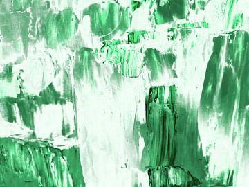 Abstract in groen en wit (III) van Maurice Dawson