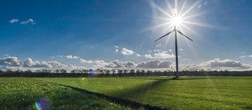 Windenergie, eine sonnige Gefühl von