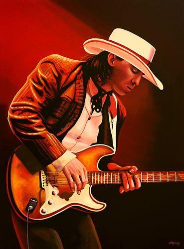 Stevie Ray Vaughan schilderij