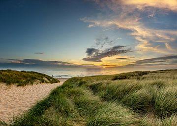Strand Paal 15 Duin Zonsondergang Texel  von Texel360Fotografie Richard Heerschap