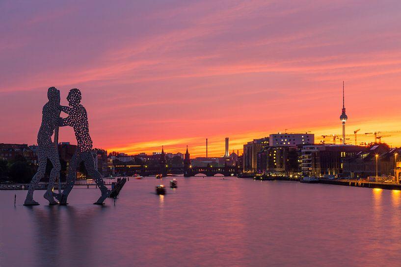 Le ciel de Berlin à l'ancien Osthafen sur Frank Herrmann