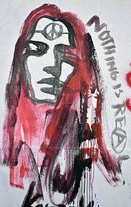 Graffiti in Parijs van Gonnie van Hove